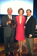 Image: Sen. and Mrs. Bob Graham and AICPA Council member/FICPA Chair Elect Marshall Gunn, Jr. (left to right) attend the AICPA Council's fall meeting, where Sen. Graham received the AICPA Medal of Honor.