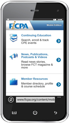 Image: FICPA Mobile Website