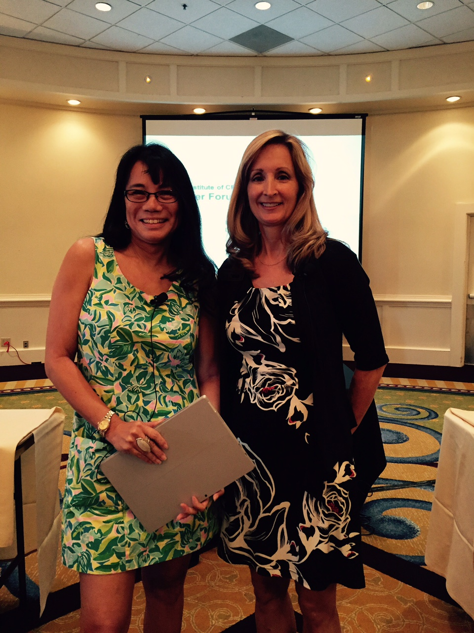 Image: The FICPA's Board Chair Mia Thomas (left) and President/CEO Deborah Curry facilitated FICPA Planning Days.