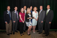 Image: The CS&L team accepting the Small Business of the Year award
